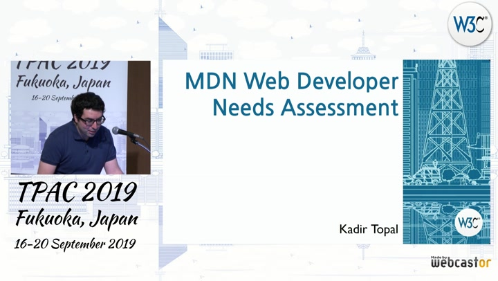Video record of The MDN Web Developer Needs Assessment